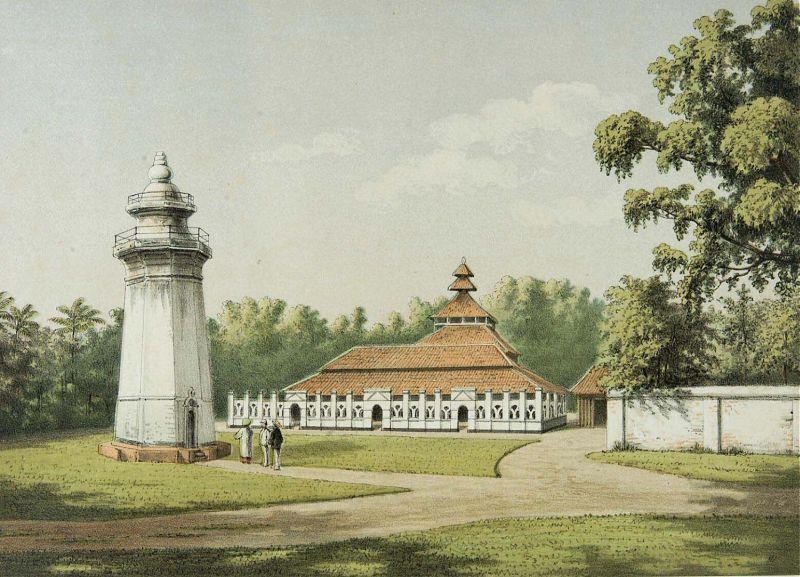 COLLECTIE TROPENMUSEUM De moskee en minaret in Karang Antu TMnr 3728 818