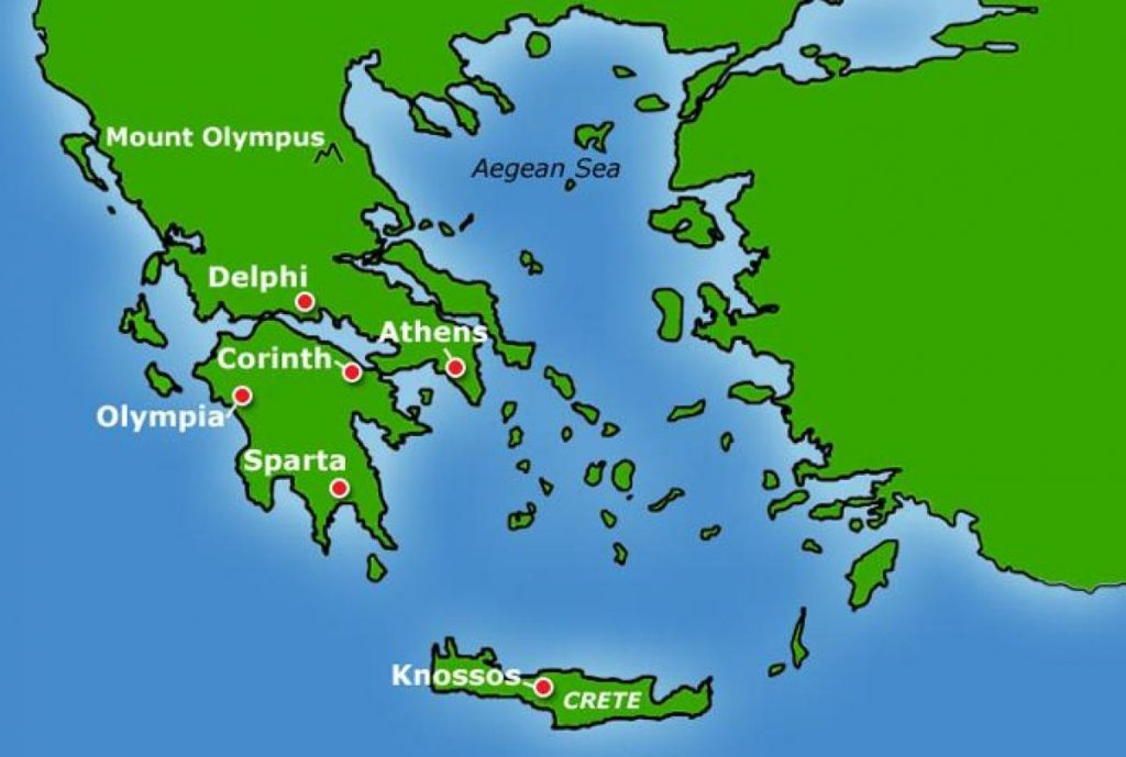 ancient greece map ks2