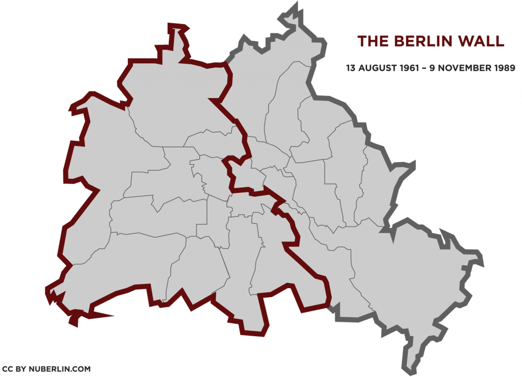 berlin wall map 1961 1989 nuberlin