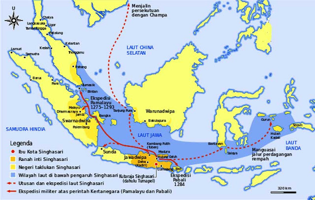 Peta wilayah Kerajaan Singasari 1