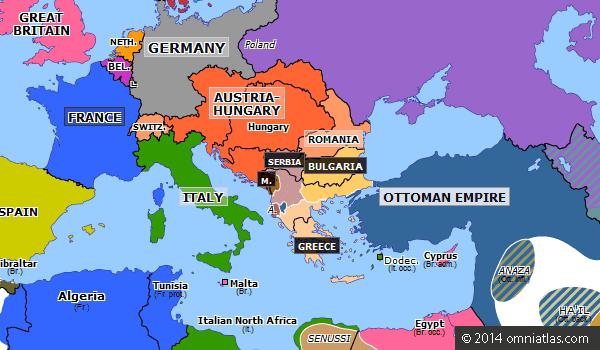 europe19130423 First Balkan War