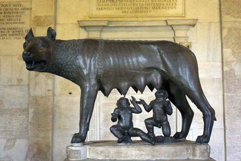 founders Romulus and Remus Rome wolf foster