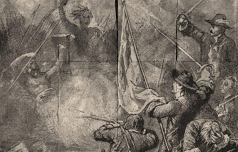 ilustrasi pertempuran trunojoyo tirto.id sabit