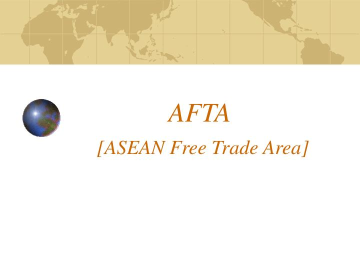 afta asean free trade area n
